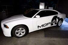 Custom Vinyl Decal Side Race MOPAR Wrap Kit for Dodge Charger 11-14 Matte Black