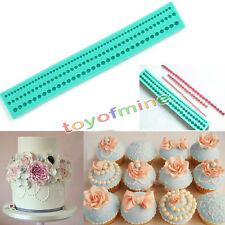 String Pearl Paste Bead Clay Mold Fondant Cake Silicone Pastry Decor Tool DIY