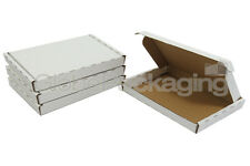 10 x WHITE PIP MAXIMUM SIZE LARGE LETTER CARDBOARD POSTAL BOXES 349x249x24mm