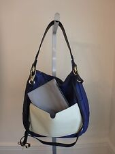 ORYANY ADELE PEBBLE LEATHER INDIGO MULTI COLOR HOBO BAG PURSE W POUCH NEW