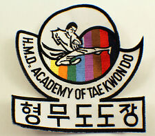 Martial Arts Embroidered Uniform Patch H.M.D. Academy Of Taekwondo