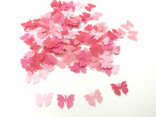 150 Edible Shades of Pink Small Butterflies Pre Cut Wafer Cupcake Toppers