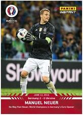 2016 Panini Instant MANUEL NEUER Germany EURO CUP Red Version #10 (SP /50 Made)