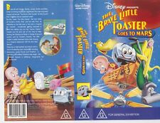 THE BRAVE LITTLE TOASTER GOES TO MARS  VHS VIDEO PAL~ A RARE FIND