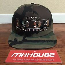 New Supreme Way Back Since 1994 World Famous 5-Panel Cap Hat Camp Camo SS 2016
