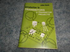 VINTAGE 1972 INTRODUCTION to TRANSISTORS & TRANSISTOR PROJECTS RADIO SHACK