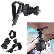 Car Sun Visor Clip Holder 1/4 Screw Mount for Sports Camera Accessories Top Sale