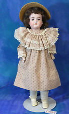 Antique 1890s German AM Armand Marseille 370 Doll Artist Prairie Dress, Hat DA54
