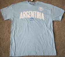 NEW ARGENTINA ARGENTINE FLAG T SHIRT SOCCER OLYMPIC XL