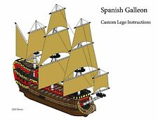 Spanish Galleon Custom Lego Pirate Imperial Armada (Instructions Only)