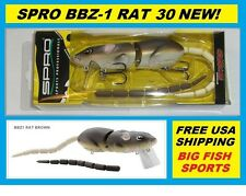 SPRO BBZ-1 RAT 30 Topwater Lure BROWN COLOR NEW! FREE USA SHIPPING! #SRT30Z1BRN