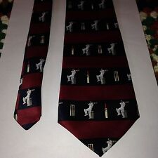 Rene Chagal Italian Design Novelty Smart Cricket Mens Neck Tie - GREAT GIFT