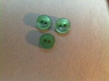 "PKG. OF 72 BUTTONS FOR BUTTON NECKLACE 3/8"" GREEN PEARL"