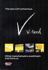 LDV convoglio Scuolabus & Minibus OFFERTA c1998 UK mercato VOLANTINO BROCHURE DI VENDITA