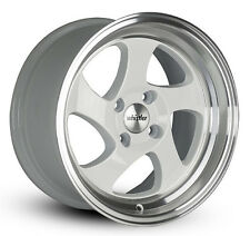 16x8 Whistler Rims KR1 4x100 WHITE MACHINED FACE Wheels (Set of 4)