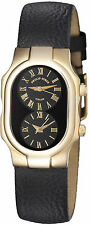 Philip Stein 18KT SOLID GOLD SMALL Dual Time watch 1g-b-cb-cb BRAND NEW
