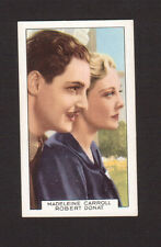 The Thirty-Nine Steps Madeleine Carroll Robert Donat Vintage Tobacco Card
