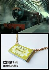 Collar Billete Pase Tren Hogwarts Express Platform 9 3/4 Andén Harry Potter