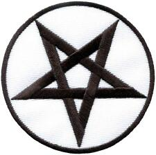Pentagram pentacle satanic occult goth wicca witch applique iron-on patch S-1124
