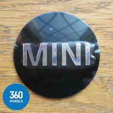 1 x NEW GENUINE MINI CENTRE CAP EMBLEM PLAQUE BADGE HUB SELF DECAL STICKER WHEEL