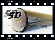VINILO LAMINA PEGATINA FIBRA CARBONO 5D.NEGRO SUPERBRILLANTE.30X20cms.COCHE