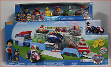 LOT 7 - Paw PATROLLER Truck + RYDER & ATV + 6 Paw Patrol RACERS Vehicle Cars Set