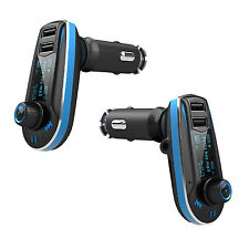 FM Transmitter Car Kit MP3 Player Dual USB Charger 2.1A LCD Remote Universal