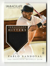 PABLO SANDOVAL MLB 2014 IMMACULATE COLLECTION IMMACULATE HITTERS MEMOR (GIANTS)