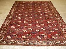 ANTIQUE KIZYL AYAK ERSARI TURKMEN MAIN CARPET, CURL LEAF BORDER, CIRCA 1850/70.