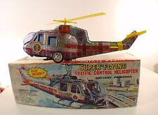 TOPLAY JAPAN Hélicoptère Traffic Control Helicopter battery powered tôle boite