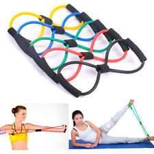 Resistance Band Yoga Pilates Abs Exercise Stretch Fitness Tube Workout Bands T