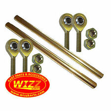 Pair of M8 x 270mm Gold OTK Tony Kart Type Alloy Track Rods & Ends & Nuts WIZZ K
