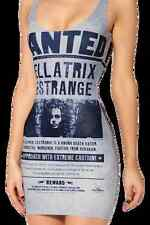 New Harry Potter Bellatrix LeStrange Wanted Poster Bodycon Dress - 8 10 12