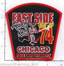 Illinois - Chicago Engine 74 IL Fire Dept Patch  Alley Rats