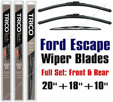 2005 2006 2007 Ford Escape Wiper Blades 3pk Front/Rear Wipers - 19200/19180/10-1