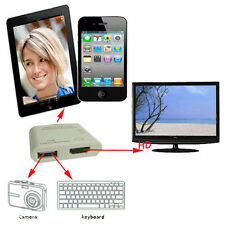 USB HDMI Video Audio Dock Adapter to HD TV For IPad2 IPad3 iPhone4 4S IPod touch