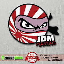 JDM MANIAC sticker decal vinyl drift japan low illest toyota honda mazda nissan