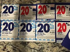 *** Lot of 8 Bed Bath and Beyond Coupon 20% Off One Item ***