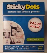 6 x U-Glue Sticky Dots Peelable Extra Strength Adhesive Value Pack 1600 x 10mm