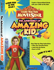 "MAKE YOUR CHILD A ""STAR"" IN THIS PERSONALISED DVD MOVIE..AMAZING KID"