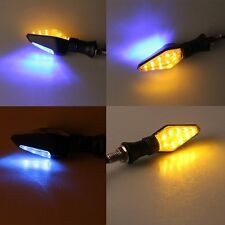 4X LED UNIVERSAL MOTORCYCLE MOTORBIKE TURN SIGNAL INDICATOR LIGHT BLACK TRIANGLE