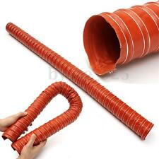 "Silicone Air Ducting Hose Flexible Brake Cold Induction Intake Pipe 64mm 2.5"" 1m"