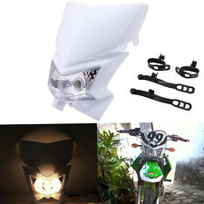 White Streetfighter Headlight Fairing Fit Suzuki DR DRZ 80 200 250 350 400 650