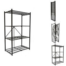 Origami R1407 Storage Rack 4 Tier Storage Shelf, Black