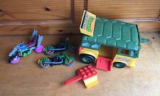 Vintage Teenage Mutant Ninja Turtles Original Vehicles Incomplete As Is