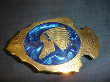 Johnson & Held Gold and Silver toned Indian Chief Arrowhead Belt Buckle