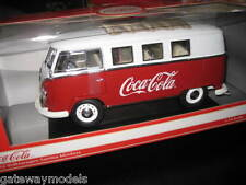 1/18 MOTOR CITY VW 1962 VOLKSWAGEN KOMBI SAMBA MINI BUS COKE COCA COLA AWESOME