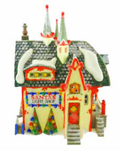 DEPARTMENT 56 NORTH POLE SERIES CHRISTMAS SANTA'S LIGHT SHOP TREES SNOW STEEPLES