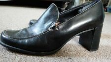 Franco Sarto Women's Black Leather Executive Office Work Shoes Heels Size 7