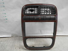 2000 Saturn LS1 Radio Bezel wood grain dash trim bezel A/C dash vents Wood grain